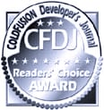 CFDJ Award Best ColdFusion Consulting company