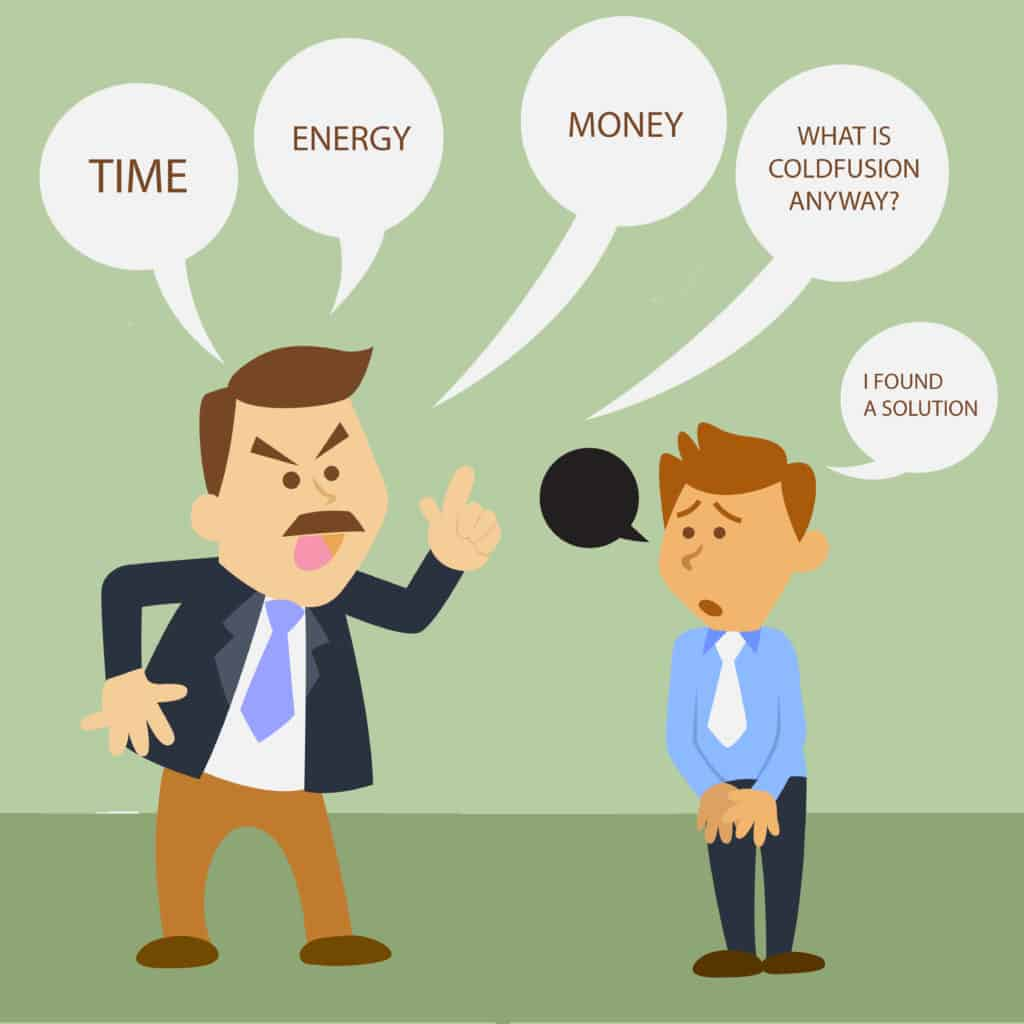 illustration of business man cartoon. angry boss