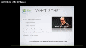 ColdFusion Docker Containers Roadshow Webinar with Luis Majano (Ortus Roadshow 2 of 5)